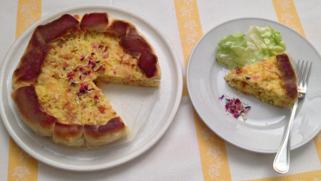Risotto avanzato: come cucinarlo per preparare una torta salata - Riciblog