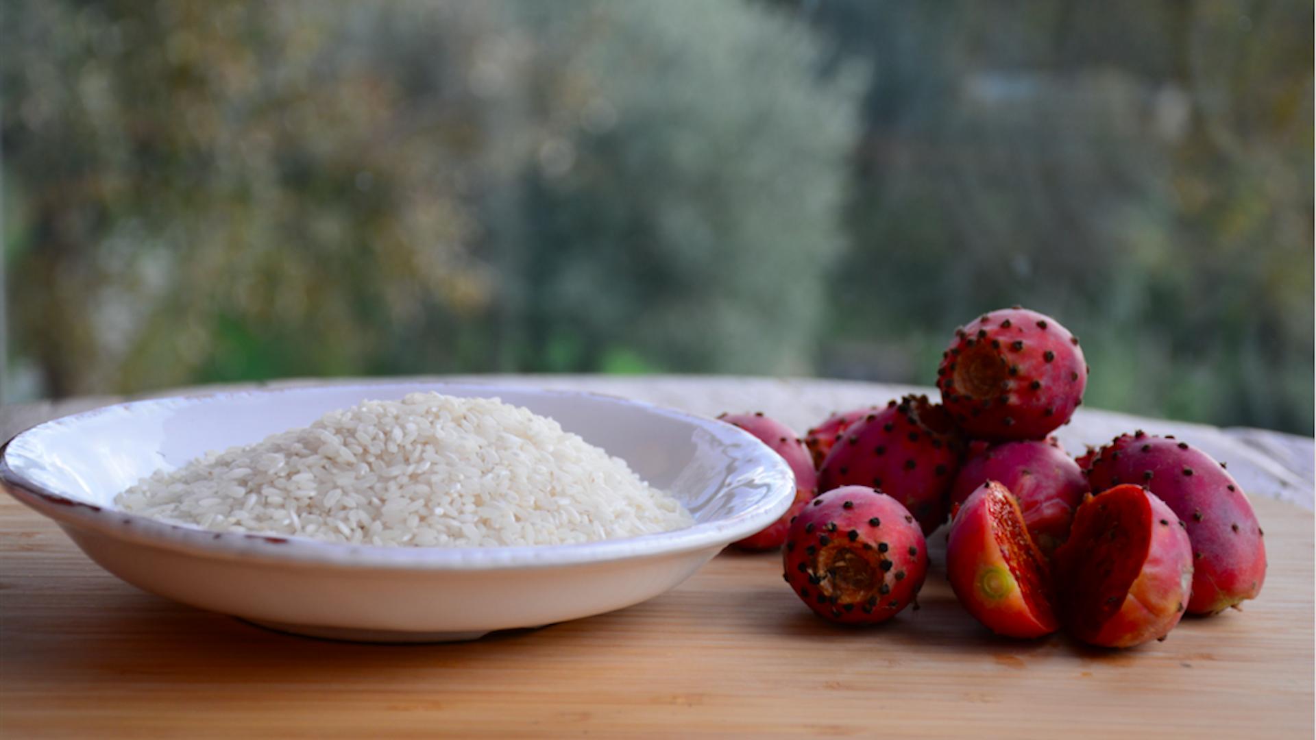 Ricetta di riso e gelato al fico d'India