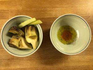 Carciofi in pinzimonio a crudo - Riciblog